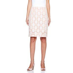 Byron by Byron Lars Contrast Lace Skirt, Ivory